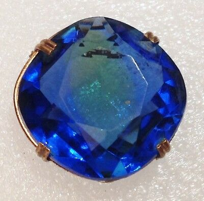 Honest Broche Année 1960 Cabochon De Verre Taillé Bleu Entourage Couleur Or 3946 Good Reputation Over The World Jewelry & Accessories Wedding & Engagement Jewelry