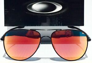 c2f18b9f55 NEW  Oakley ELMONT M BLACK 58mm AVIATOR Ruby IRIDIUM lens ...