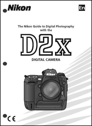 Nikon D2X User Manual Guide Instruction Operator Manual