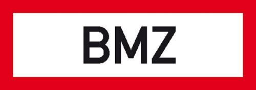 Schild BMZ Alu 29,70x10,50cm 11.2500