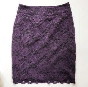 Banana-Republic-Purple-Laced-Career-Office-Pencil-Skirt-Women-s-Size-6