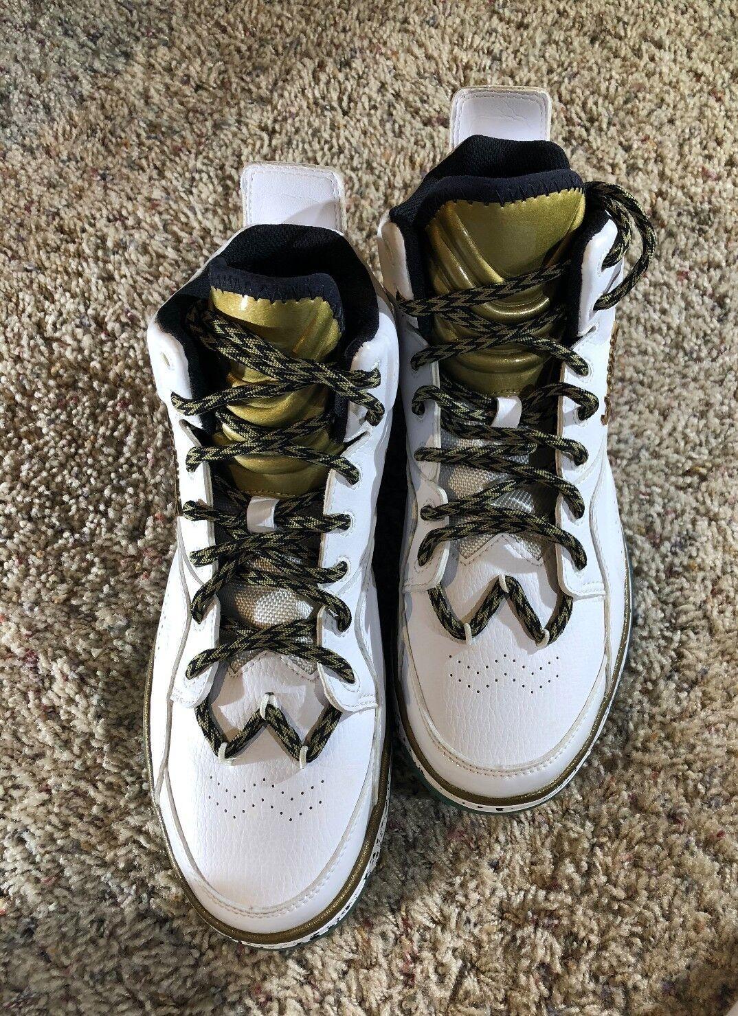Brand New Li-Ning Evolution 937, ABCH061-2, Men's basketball shoe US9 White/Gold