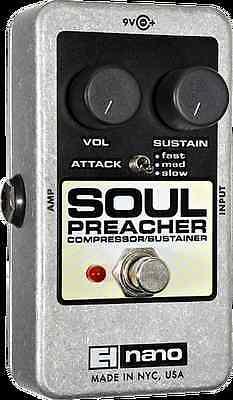 EHX Electro Harmonix SOUL PREACHER Compressor Sustainer Guitar Effects Pedal