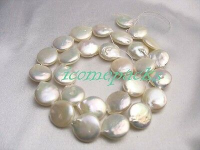 """wholesale 15.5 """" 13mm white coin freshwater pearls wholesale bead nature gift"""