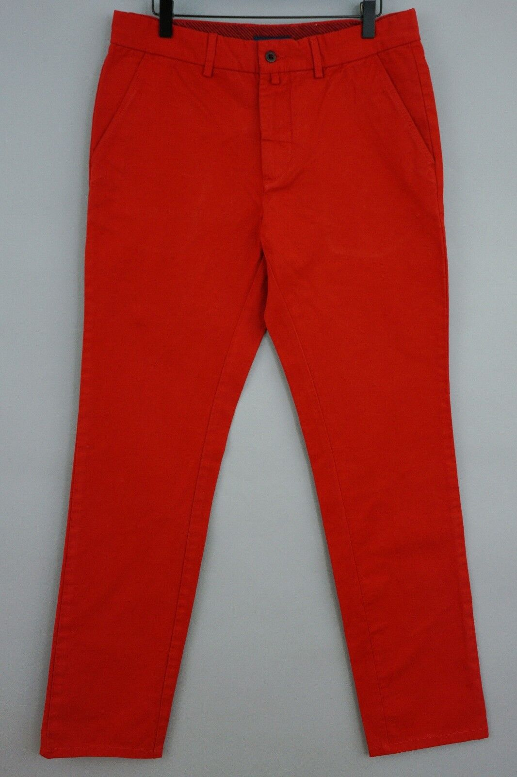 Men Gant Trousers Soho Red Slim Fit Casual Size W31 L32 JCA35