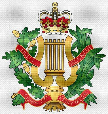 "8x8/"", 20x20cm, kit ou diagramme Royal corps of transport cross stitch design"