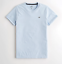Hollister-homme-a-encolure-ras-du-cou-a-manches-courtes-Muscle-must-have-Courbe-Tee-Logo-T-Shirt miniature 20
