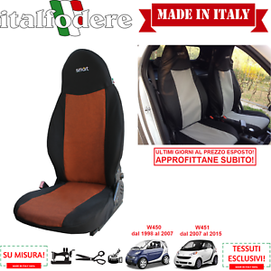 LINERS Smart Fortwo 1998-2015 TAILORED SEAT COVERS PAIR Foderine Orange 312
