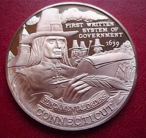 CONNECTICUT-Official-Sterling-Silver-Bicentennial-PROOF-Medal