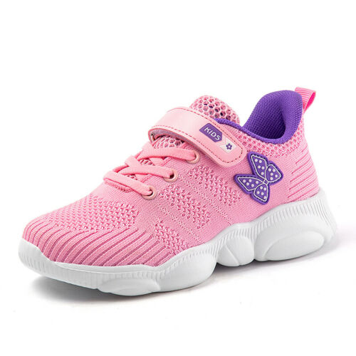 26-37 Kids Girls Fly Knit School Sports Athletic Trainer Shoes  Running Jogger