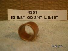 "Ace Bronze Bushing New ..ID 5/8"" OD 3/4"" L 9/16""...#4351...AUTOMOTIVE"