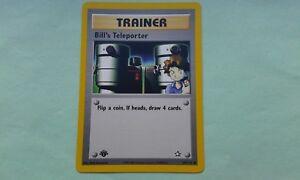 Neo Genesis Uncommon Pokemon Card EX Bill/'s Teleporter 91//111 1st Ed