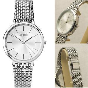 Sekonda-Gents-Mens-Stainless-Steel-Silver-Dial-Bracelet-Watch-Water-Resistant