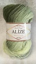Alize SUPERLANA Zincir Pastel BATIK yarn DK ombre WOOL/acrylic green soft 3.53oz