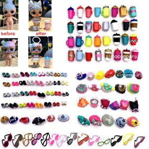 Lot-12Pcs-LOL-Surprise-Accessory-Outfit-dolls-3-Dress-3-bottle-3-Glasses-3-shoes