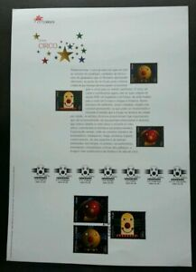 SJ-Portugal-Europa-CEPT-Circus-2002-Clown-stamp-on-info-sheet-see-scan