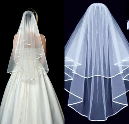 Bridal Veil Comb Bride to Be Hen Wedding Party Accessories White Fancy Dress UK