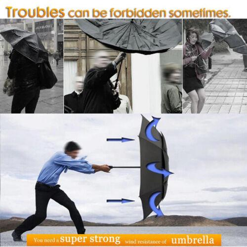 130CM Men Women Large Folding Rain Umbrella Anti-UV Windproof Big Oversized CHL