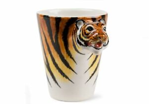 a3aa308546b Details about Tiger Gift, Coffee Mug Handmade by Blue Witch