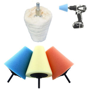 Foam Cone Shaped Sponge Polishing Buffing Pads for Car Wheel Hub Tool Sale New