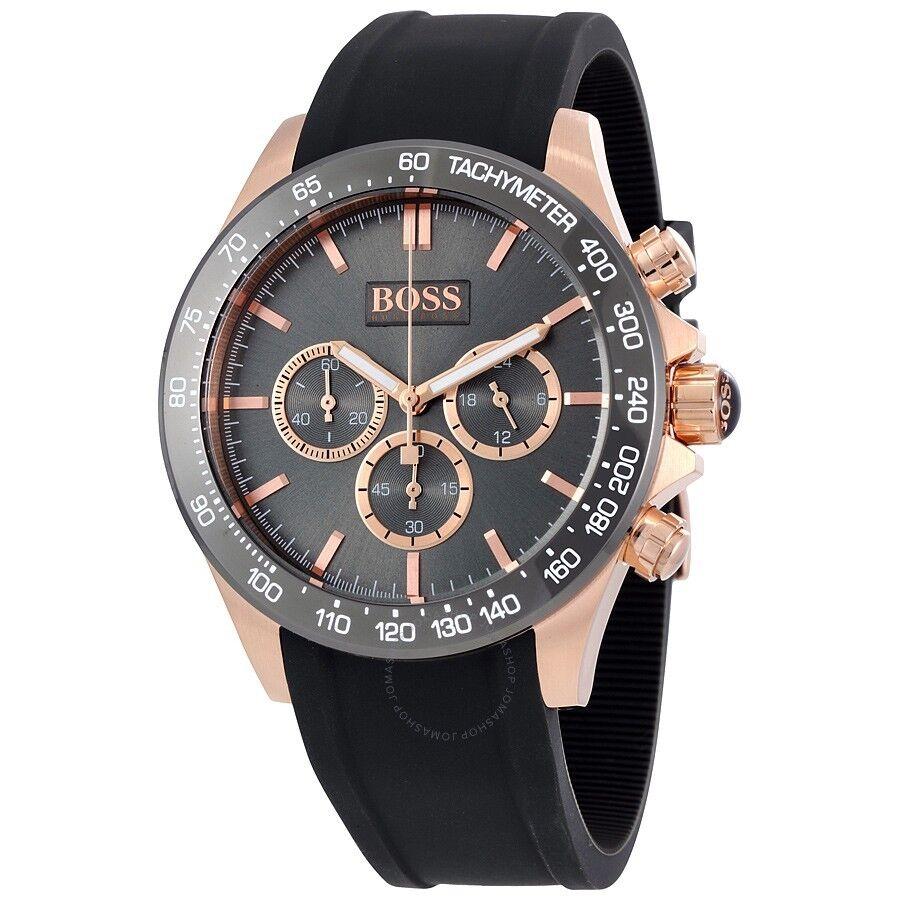 Hugo Boss Men S Ikon 1513342 Grey Rubber Quartz Watch 1681953700