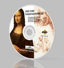 Over 10,000 Painting on DVD, Da Vinci, Van Gogh, Picasso +etc
