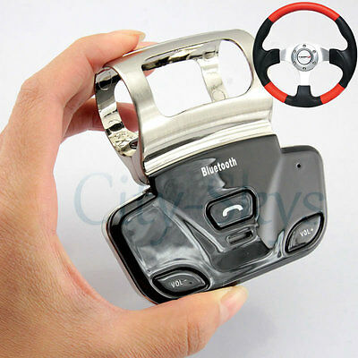 New Alloy Steering Wheel Wireless Bluetooth Handsfree Handset Speaker Car Kit UK