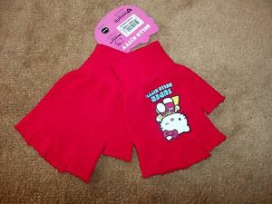 de968c007 Details about SUPER Hello Kitty Fingerless Gloves Officially Licensed Sanrio  One Size Adults