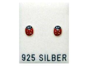 AnpassungsfäHig Neu 925 Silber Ohrstecker Ohrringe Mit MarienkÄfern In Rot MarienkÄfer
