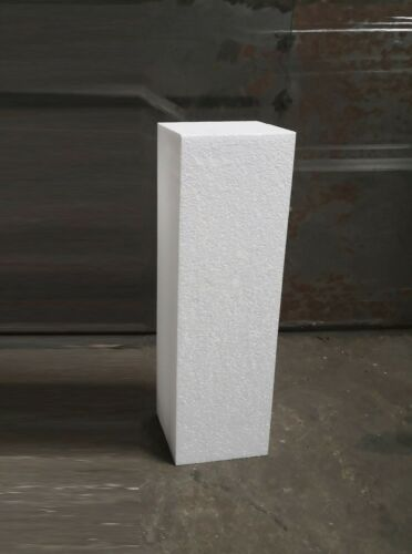 Styropor Säule 1 Stück 20x20x50 cm weiß Logik Pyramide Kreativ Freizeit Würfel