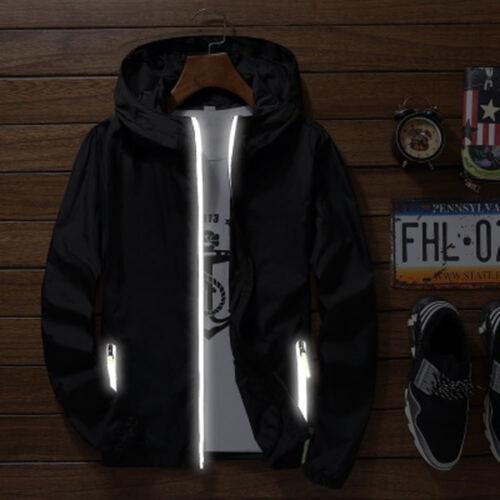 Herren Jacke Hoodie Sport Quick Dry Windbreaker Mantel Zip Up mit Kapuze Outwear