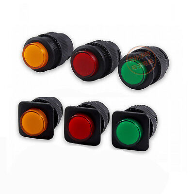 16mm Push Button Switch Maintained Momentary 250V 3A LED Illuminated 1NO ON OFF
