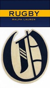 Rugby-Ralph-Lauren-O-Old-English-Varsity-Football-Letterman-Patch-RLFC-Polo-Ski