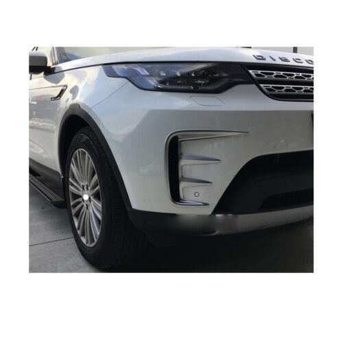 2 Chrome Fog Light Lamp Cover Decorate Trim For Land Rover Discovery 5 2017-2019