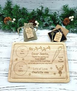 Christmas Eve Treat Board Santa Plate
