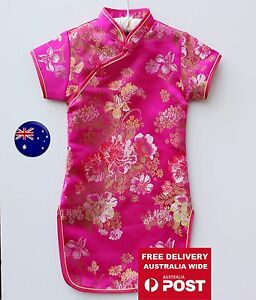 1c27ceaca7ed Image is loading NEW-Kids-Girl-Chinese-Traditional-QIPAO-Costume-Tunic-