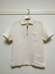 Nigel-Cabourn-FRED-PERRY-Pullover-Shirt-Tops-Short-Sleeve-Polo-Shirt-White-Men-039-s