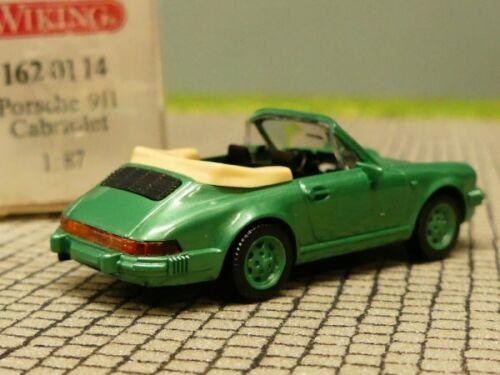 1//87 Wiking Porsche 911 Cabrio grünmetallic 162 01 B