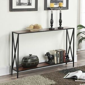 Details About Slim Console Table Narrow Shelf Storage Sofa Accent Entryway Foyer Furniture New