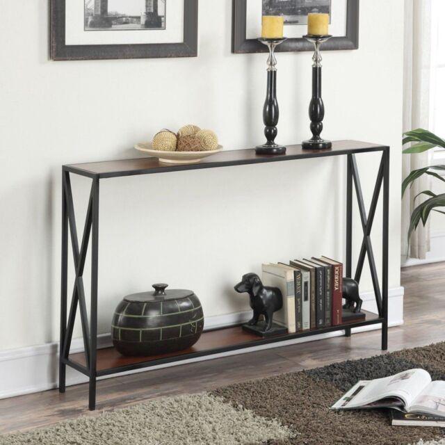 Console Table Narrow Shelf Storage Sofa