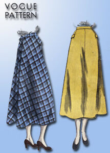 Das Bild wird geladen 1940s-Jahre-Original-Vintage-Vogue-Pattern-6491-Misses - 29bb4ac553