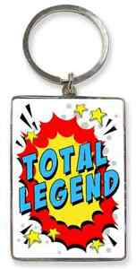 Total Legend Key Ring. Gift For Male. Fathers Day, Christmas, Birthday