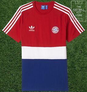 brand new 3cfd7 5a83f Details about Bayern Munich Tee - Official adidas originals Bayern Munchen  T-Shirt - All Sizes