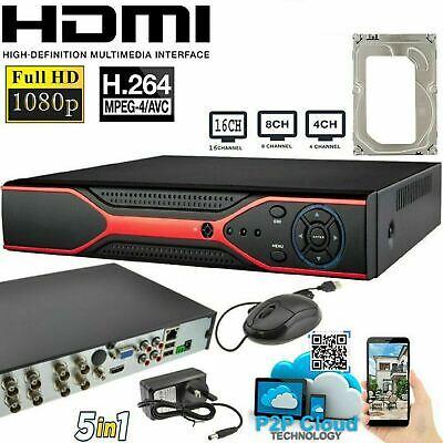 4 Channel CCTV DVR  5MP HD UK Smart  1920P Video Recorder VGA HDMI BNC CASPERi