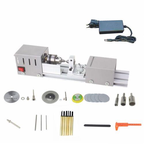 DIY Wood Mini Lathe Machine Polisher Table Sander Gringder Saw Cut US//EU Plug