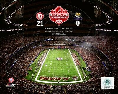 The Superdome University of Alabama Crimson Tide 2012 BCS Champions Photo 10x8