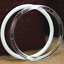 """thumbnail 8 - Plastic Acrylic Craft Rings (Pack of 6) Choose Color & Size 1.75"""", 3"""", 4"""" or 5"""""""