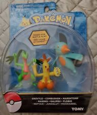 Pokmon Action Pose 3 Pack Grovyle Combusken and Marshtomp