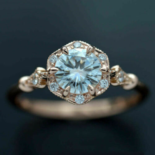 Rings Gold White Fashion Ring Size for Rose 6-10 Women Jewelry Sapphire Filled