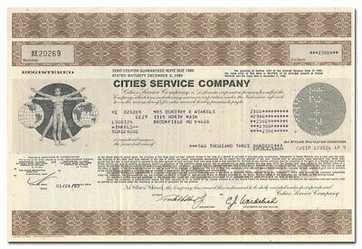 Cities Service Company Stock Certificate Citgo